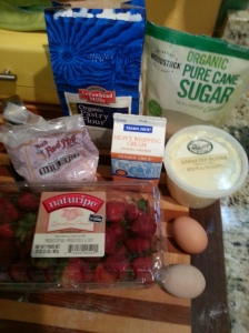 ingredients for the strawberry scones