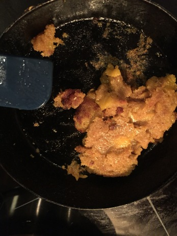 FAIL: this corn cake never made it to the table